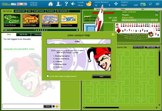 online casino william hill joker poker