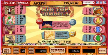 big top tombola playtable